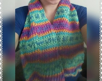 Multi colored knit scarf