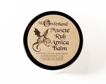 Muscle Rub, Arnica Salve, All natural, Sore Muscle, Pain Salve, Essential Oil Blend, Salve, Camphor, Peppermint, Eucalyptus, Clove, Ginger