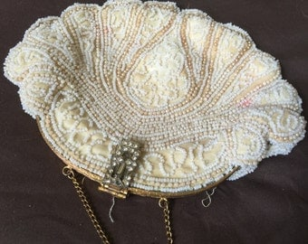 Old Antique Fabco Beaded Purse Bag