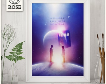 Poster - Doctor Who | Ten x Rose / I'm burning up a sun just to say goodbye *DIGITAL DOWNLOAD*