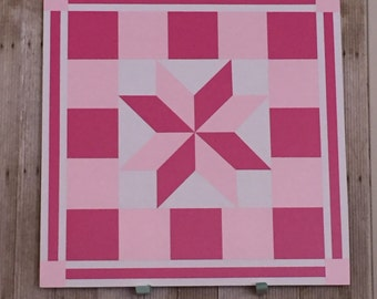 Barn Quilt Breast Cancer Awareness