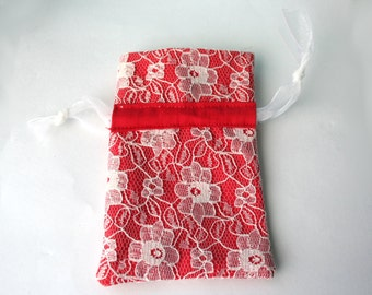Red laced Bag - Gift Bag