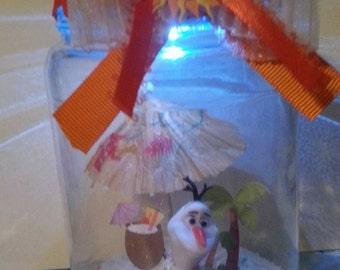 Olaf in Summer jar light