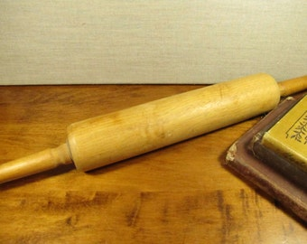 Vintage Wooden Rolling Pin - 17""