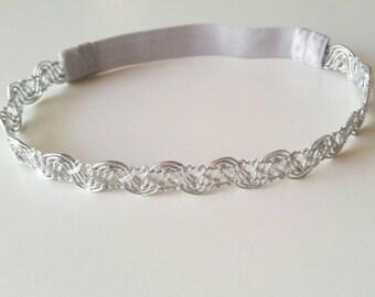 Silver Braided Headband