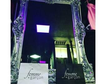 5.5' x 7.5' Grand Ornate Rococo Wall Mirror