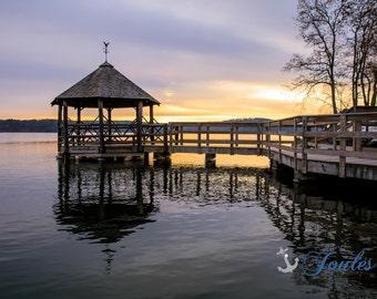 Church Landing ~ Lake Winnipesaukee, Meredith, New Hampshire, Church Landing, Lake Photography, Sunrise, Winter, Wall Decor, Joules, Artwork