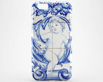 Angel iPhone Case Azulejo iPhone 7 Case Portuguese Phone Case iPhone 6 Cover iPhone 5 Case iPhone 7 Plus Case Galaxy S8 Plus iPhone 6S Plus