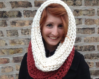 Large Chunky Cowl, Crochet Cowl, Winter Accessory, Large Knit Cowl, Extra Large Cowl, Womens Cowl, Womens Large Cowl, Infinity Scarf