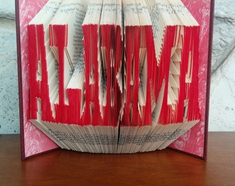 Alabama - Folded Book Art - Fully Customizable, University of Alabama