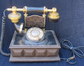 Vintage Rotary Retro French Victorian Style Telephone Western Electric