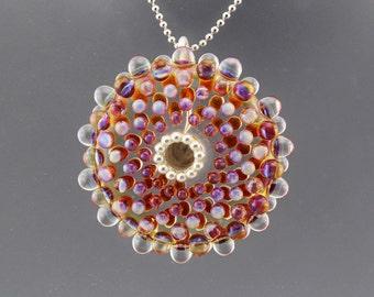 Mandala disk No. 2, focal lampwork bead