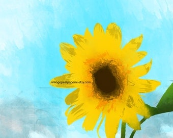Sunflower Wall Art Printable
