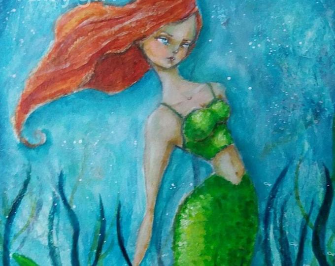 Thessalonike the Mermaid 01 Original Painting