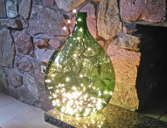 vintage dame jeanne demijohn wine bottle glass grass green. Black Bedroom Furniture Sets. Home Design Ideas