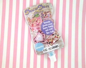 4 oz Blue DecoDen Bling Whipped Cream Glue for Cell Phone Decoration