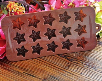 Silicone Star Chocolate Mold - Star Shaped Chocolate / Baking / Jelly / Soap Mould
