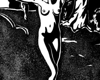 Deer Woman Print