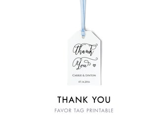 Thank You Tag, Wedding Favor Tag, Wedding Printable, Wedding Thank You, Wedding Favor, Personalized Thank You, Editable, Instant Download