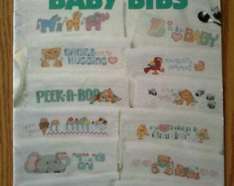 Leisure Arts Cross Stitch Baby Bibs Leaflet