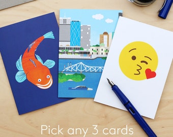 Pick any 3 greeting cards