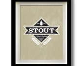 "Stout Craft Beer Label 11x14"" print"