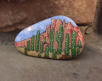 PHOENIX, ARIZONA - Original Hand-Painted Stone