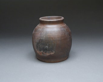 Pottery vase, brown pottery vase, ceramic vase, brown ceramic vase, brown saggar pottery vase,saggar pottery vase