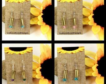 Ammo earrings, 22 caliber