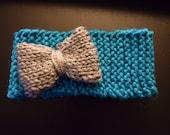 Newborn Knit Headband with Bow or Flower