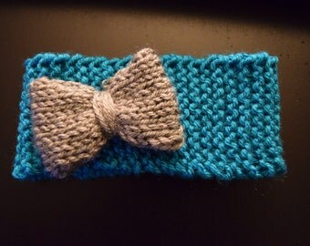 Newborn Knit Headband with Bow or Flower