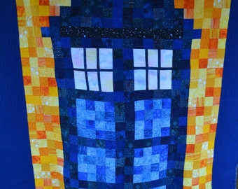 Dr Who Quilt - Twin Size