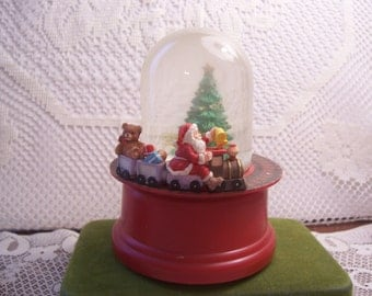 Musical Rotating Santa Train Water Globe