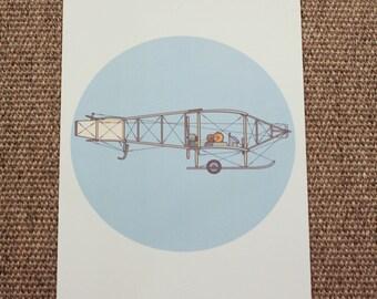 Bristol Boxkite Biplane Illustration