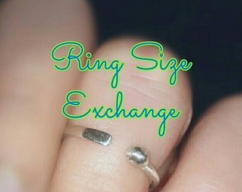 Ring Size Exchange/Ring Resize/Resize Ring/Stretch Ring Larger/Cut Ring Smaller