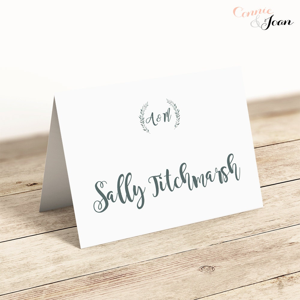 Printable Place Cards Template Flat And Folded Table Name Cards - Printable place cards template