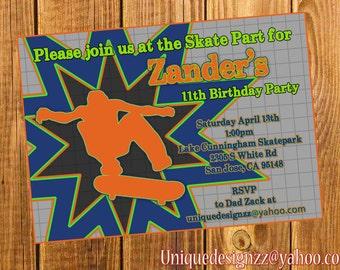 Skater Boy Invitation