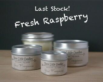 Fresh Raspberry Soy Candle - 2oz, 4oz or 8oz Tins or Mason Jar 170g