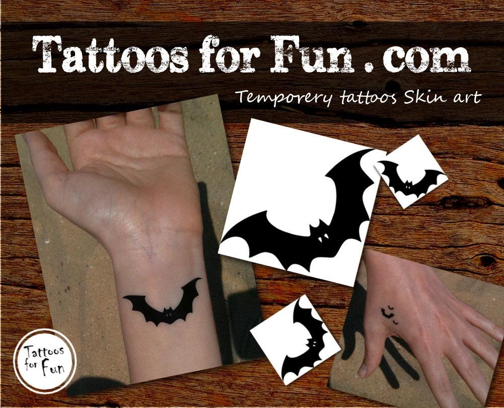 Halloween bat temporary tattoo halloween tattoo halloween for Halloween temporary tattoos