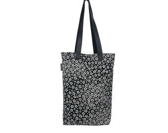 Momoka  White Flower print silk tote bag