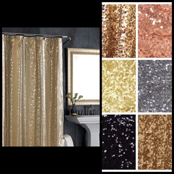 Sequin Fabric Shower Curtain Various Sequin By Sparklemegorgeous