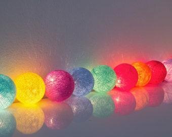 20 x Mix cotton ball string light for decor ,bedroom, wedding, party, garden,lamp,lantern