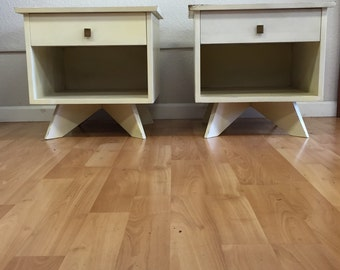 Pair of George Nakashima Nightstands for Widdicomb SOLD