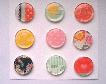 Epoxy Flair Lucky Charm Dear Lizzy Stickers Set Great For Scrapbook Embellishments,Planners,Project Life Epoxy Flairs