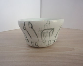 Ceramic pot, wheel-thrown