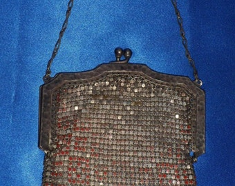 Vintage Early 1900's Edwardian Era Mesh Metal Purse Handbag