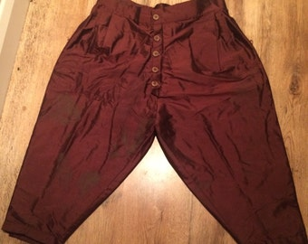 Renaissance style silk breeches