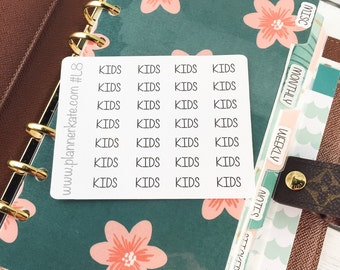 L8 || KIDS Divider Label Stickers