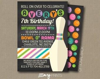 Bowling Invitation / Bowling Birthday Invitation / Birthday Invitation / Bowling / Bowling Birthday / Bowl