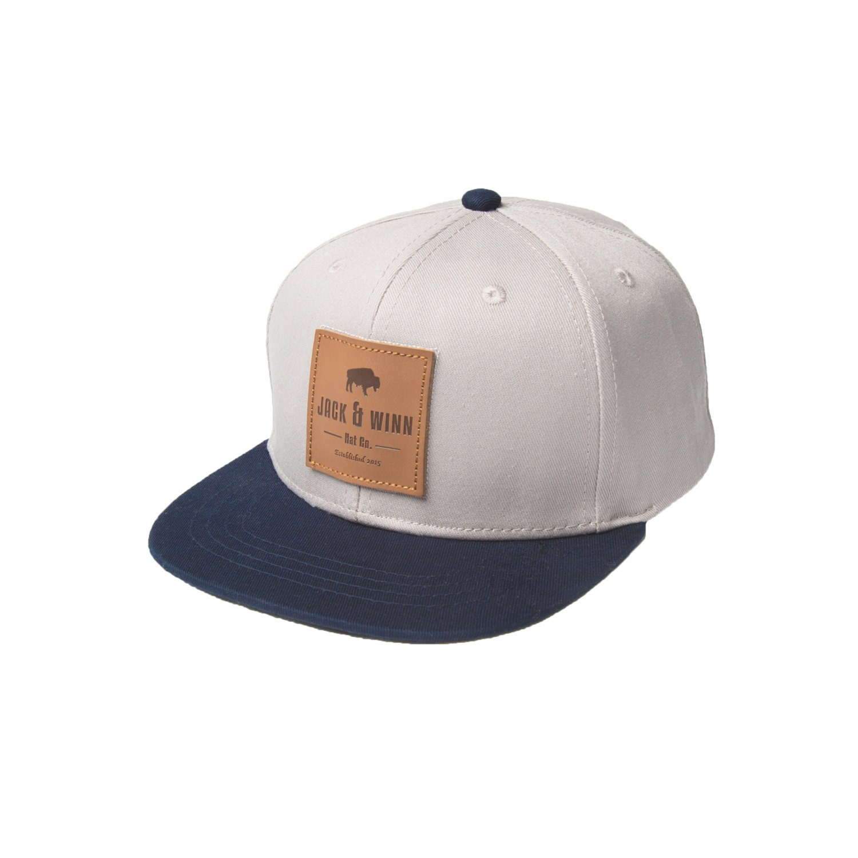 Stylish Baby Original Gray Snapback Hat Leather Patch